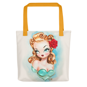 Rockabilly Babydoll Blonde • Tote Bag