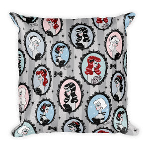 Cameo Dolls • Square Pillow