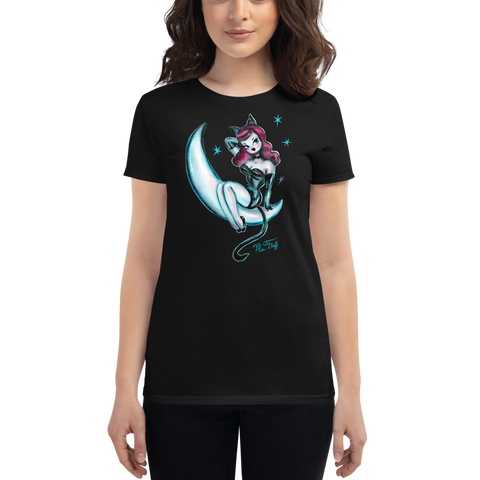 Kitten on the Moon • Women's Tee