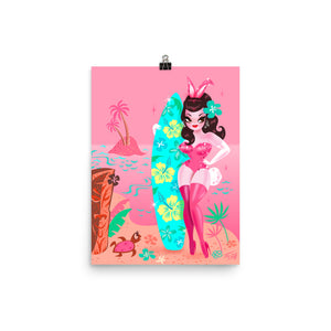 The Hawaii Burlesque Festival - Beach Bunny • Art Print