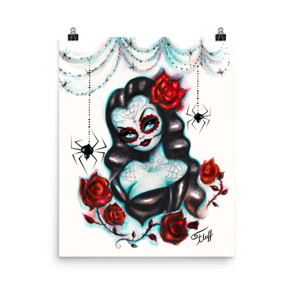 Vampire Vixen with Roses • Art Print