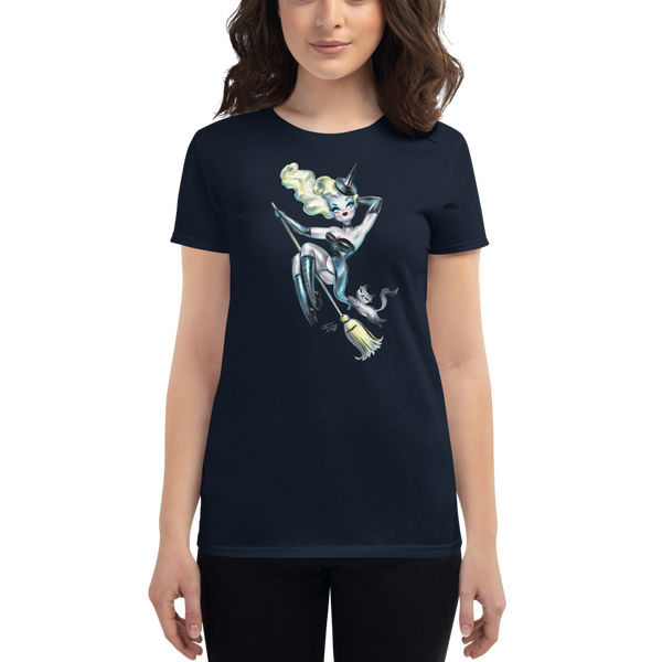 Blonde Pinup Witch • Women's Tee