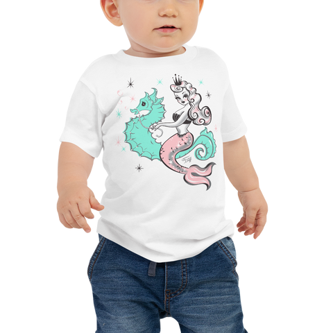 Pearla on a Seahorse • Baby Tee