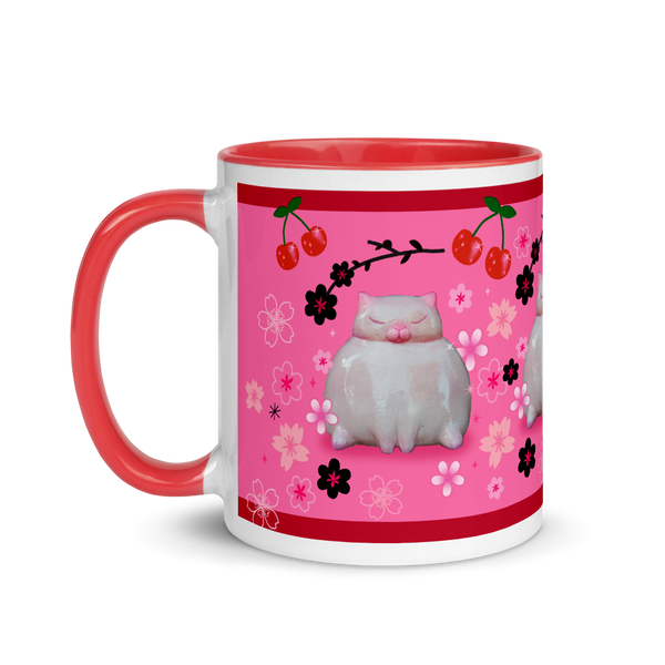 Sumo Kitty on Pink • Mug