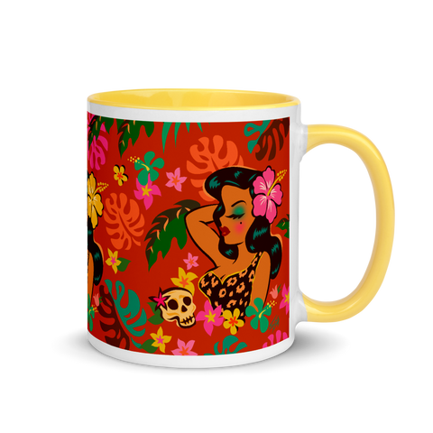 Tiki Temptress - Tropical Doll • Mug