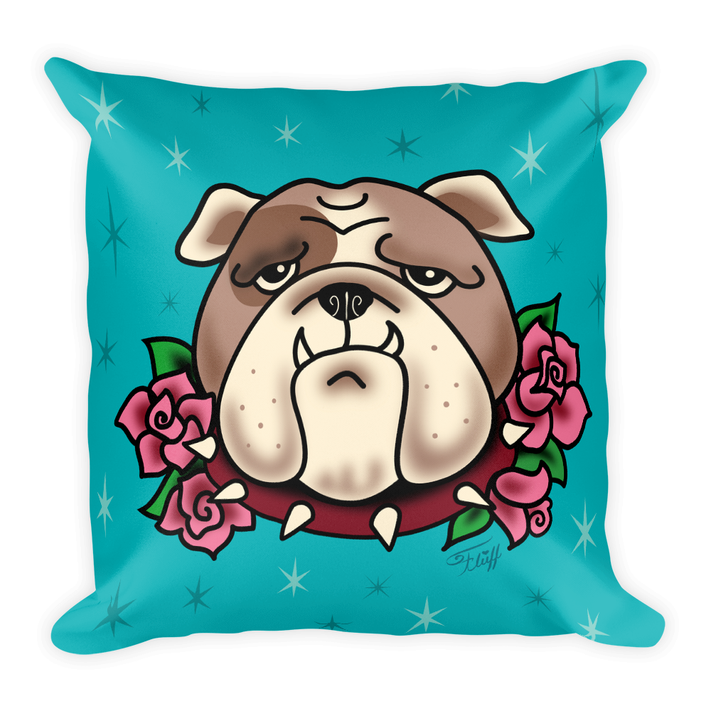 Boris Bulldog • Square Pillow