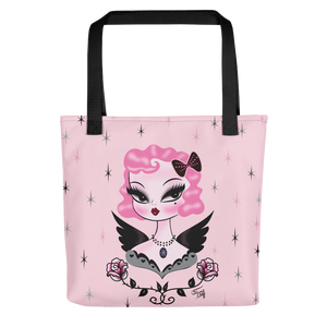 Pink Hair Dolly Angel • Tote Bag