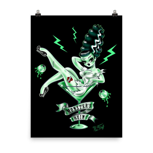 Bride of Frankie in a Martini Glass • Art Print