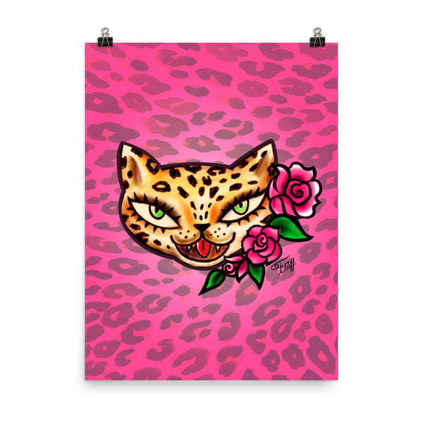 Leopard Kitty • Art Print