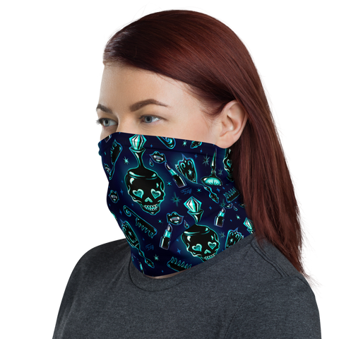 Elements of a Noir Boudoir Black• Neck Gaiter Face Mask