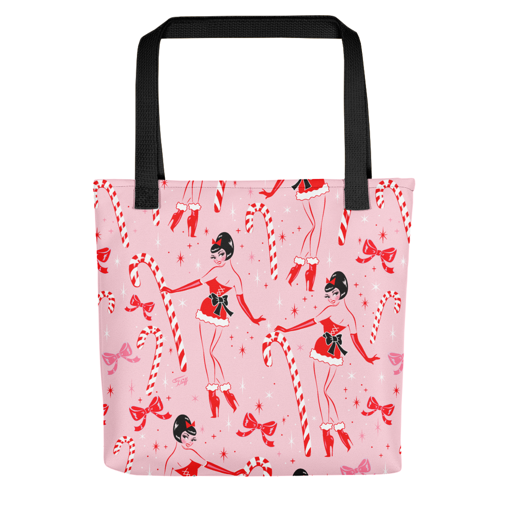 Candy Cane Girl • Tote Bag