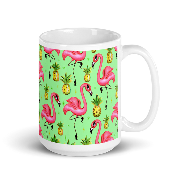 Flamingos and Pineapples • Mug