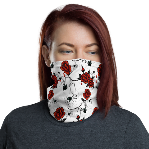 Black Widows and Roses • Neck Gaiter Face Mask