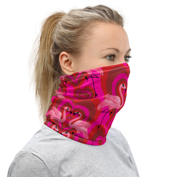 Flamingo Love • Neck Gaiter Face Mask