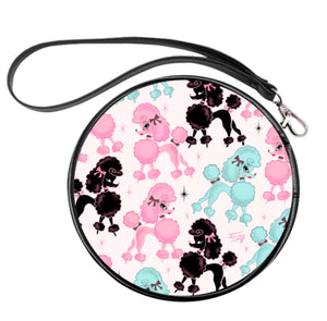 Poodlerama • Round Cosmetic Bag