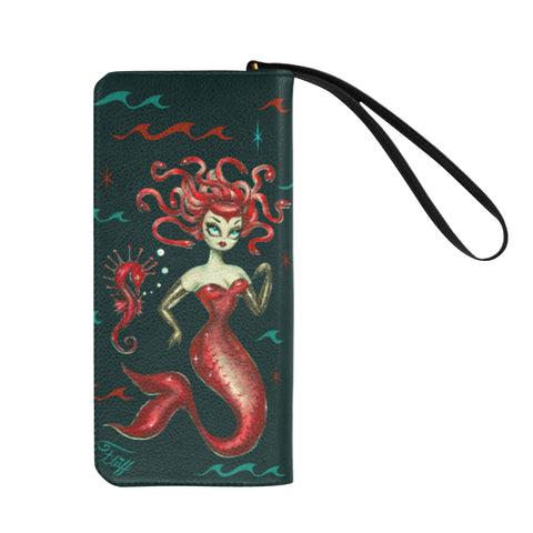 Red Medusa Mermaid • Clutch Wallet