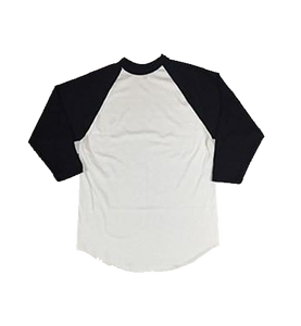 White and Black Baseball Tee
