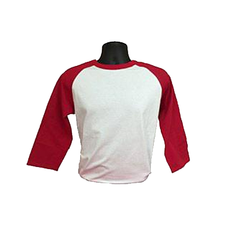 White and Red Baseball Tee