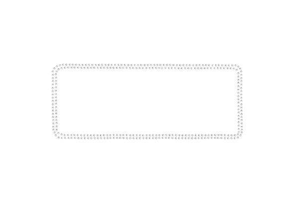 Double Rhinestone Rectangle Outline