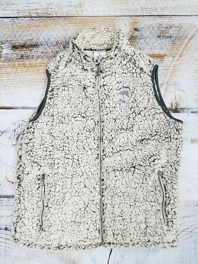 AHA Ladies Black Heather Sherpa Vest