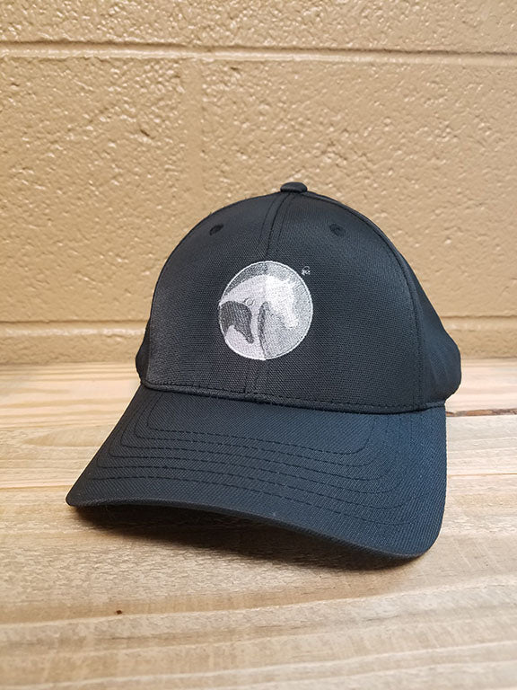 AHA circle front black cap with AHA on the back