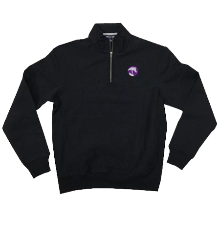 AHA Purple and Black 1/4 Zip