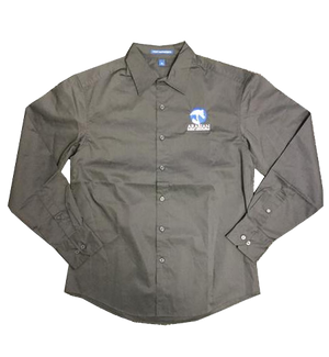 AHA GREY LONG SLEEVE BUTTON FRONT