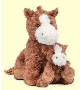 "13"" coco horse w/ baby"