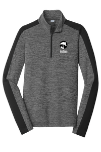 AHA Men's Electric Black and Charcoal 1/4 Zip