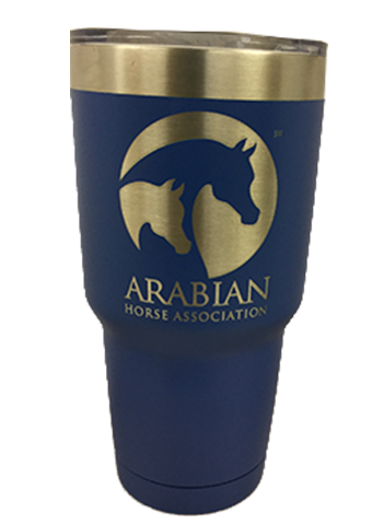 AHA 30 oz Blue Powder-coated Polar Tumbler