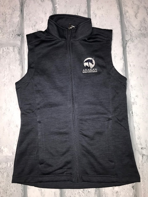 AHA  Ladies Navy Heather Melange Vest