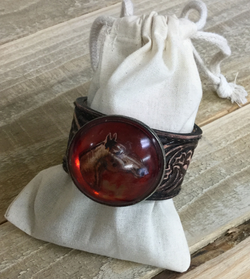 Antique Garnet Bridle cuff