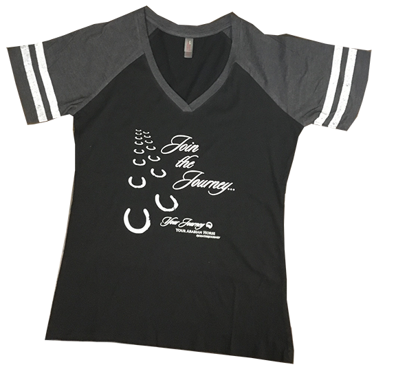 Join the Journey Hoof Print Charcoal Game Tee