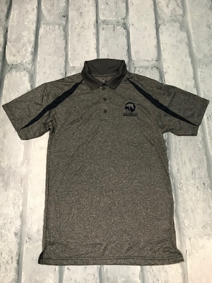 AHA Fusion Sport Polo Steel and Navy