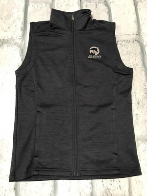 AHA MENS NAVY HEATHER MELANGE VEST
