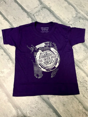 AHA Dot Horse PURPLE Tee Youth