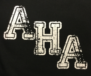 AHA Very Distressed Diagonal Logo in White
