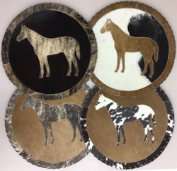 Hide with Horse Place mats