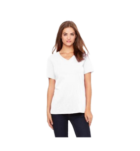 White Ladies V-neck Tee