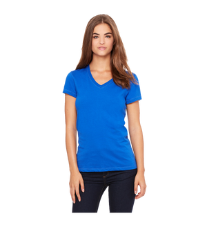 Royal V neck ladies tee