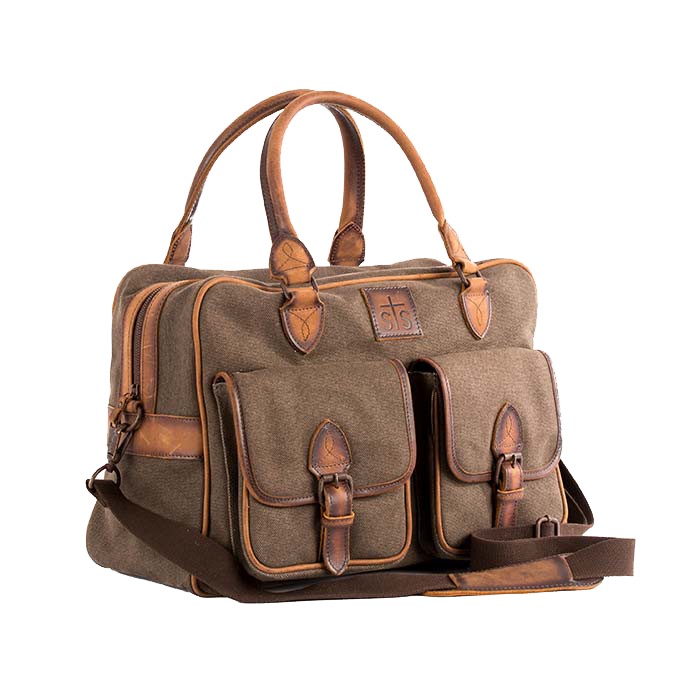 AHA The Foreman's Weekender Bag Brown Canvas