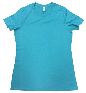 Teal ladies fit SS