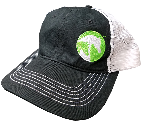 AHA Lime Black & White Mesh Cap