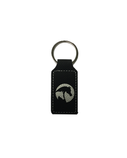 Black/Silver Leatherette Keychain