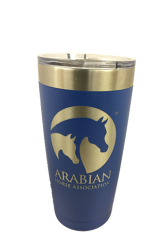 AHA 20 oz Blue Powder-coated Polar Tumbler