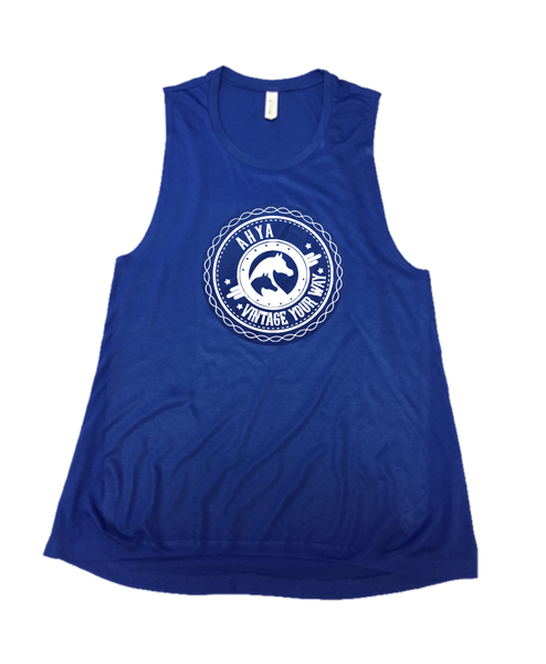 AHYA Medallion Blue Muscle Tank