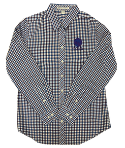 AHA Ladies Blue Purple Button Down