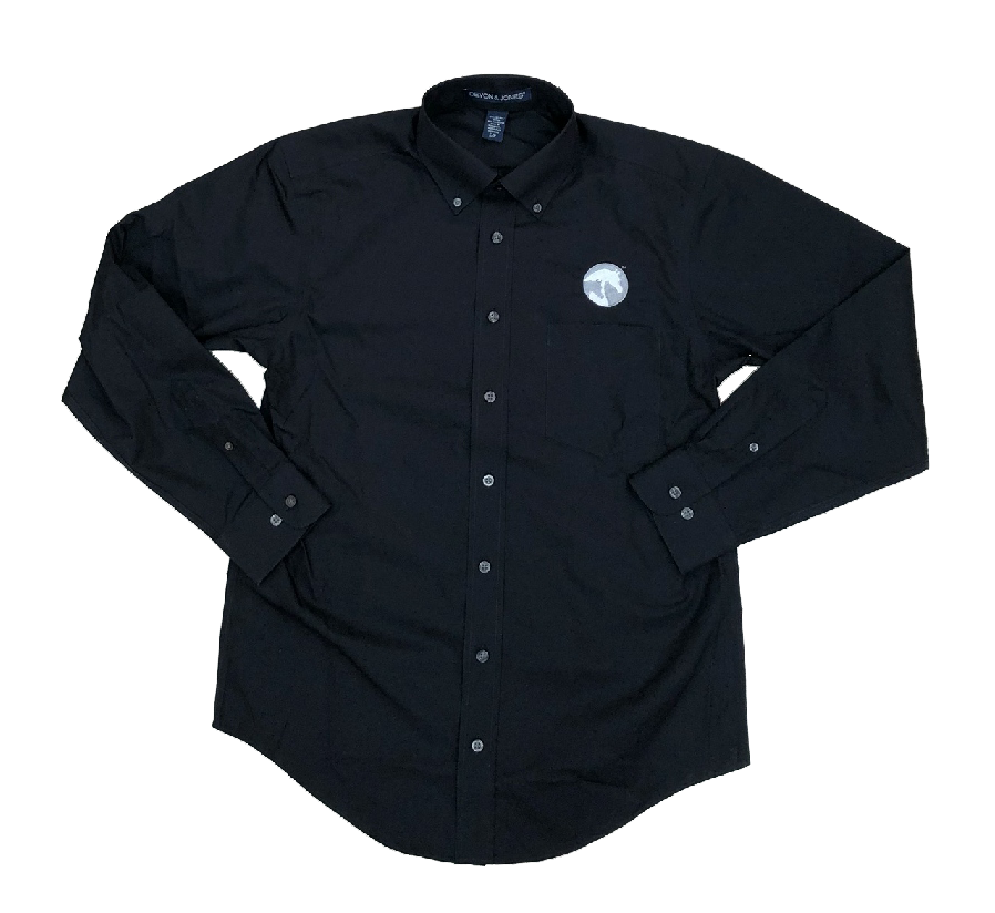 AHA Men's Black button-down