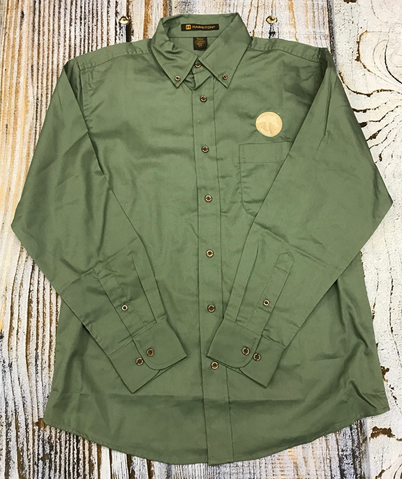 AHA Dill Green Button Down