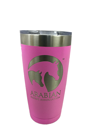 AHA 20 oz Pink Powder-coated Polar Tumbler